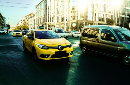 Taxi - Yellow, Buildings, Cars, Transport, Taxi, City