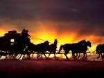 Sunset And Coach Wagon