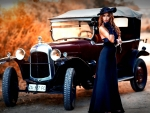 Classic Lady with a Classic Car