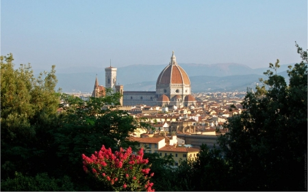 Florence Morning - city, Florence, morning, Italy