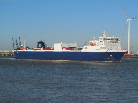 Norsky Cargo Ship - Cargo, Boats, Ships, Commercial, UK, River Thames
