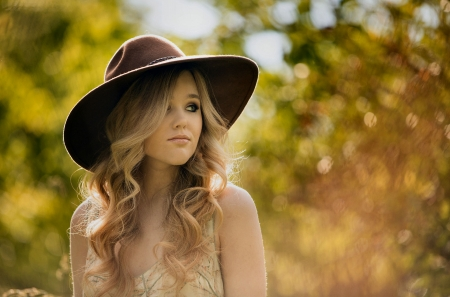 Missing Jake . . - female, models, hats, cowgirl, ranch, lonely, fun, outdoors, women, jake, fashion, blondes, western, style