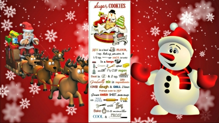 Christmas Cookies Recipe - Christmas, Recipe, Cookies, Abstract