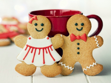 Classic Gingerbread Cookies - Girl, Cup, Boy, Gingerbread