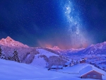 Milky way in winter