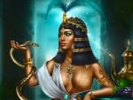 Cleopatra and Snake