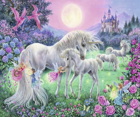 Unicorns and fairies - Fantasy & Abstract Background ...