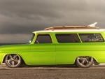 1966 lime crush suburban
