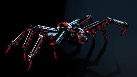 Steampunk spider fantasy abstract background - Moving spider desktop ...