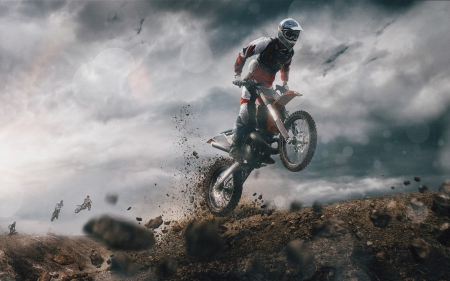 motocross - dirt, man, bike, motocross
