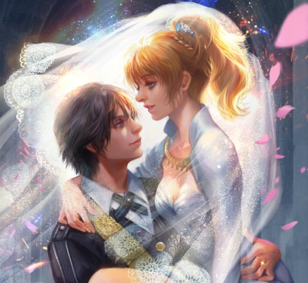Lunafreya And Noctis Fantasy Abstract Background