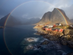 Colorful Rainbow in Norway