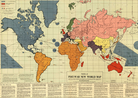 Post-war map - history, maps, map