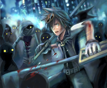 Kingdom Hearts  Panic - games, sora, kingdom hearts, heartless