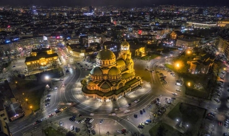 Sofia ~ Bulgaria - photography, city, nights, beauty, lights
