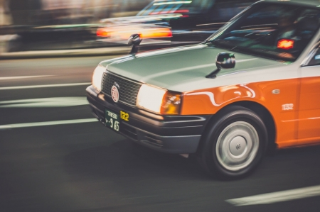 Taxi - Travel, Car, Speed, Transport, Road, Taxi, Orange