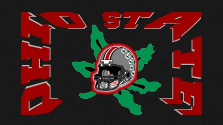 OHIO STATE HELMET ON A BUCKEYE LEAF - STATE, FOOTBALL, OHIO, BUCKEYES