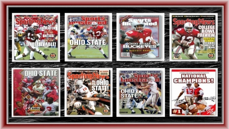2002 CHAMPIONSHIP MAGAZINE COVERS - STATE, FOOTBALL, OHIO, BUCKEYES