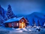 House at Winter Night