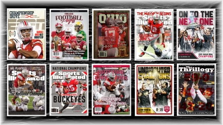 2014 NATIONAL CHAMPIONS COVERS - STATE, FOOTBALL, OHIO, BUCKEYES