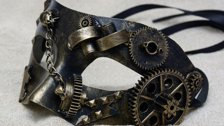 Steampunk Mask - masquerade, carnival, mardigras, Fifty Shades, steampunk, dominant, science fiction, mask
