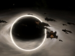 Fleet in orbit of blackhole