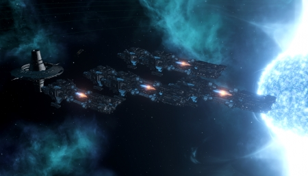 Titans in space - ships, stellaris, fleet, space