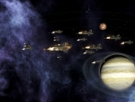 Fleet around gas giant