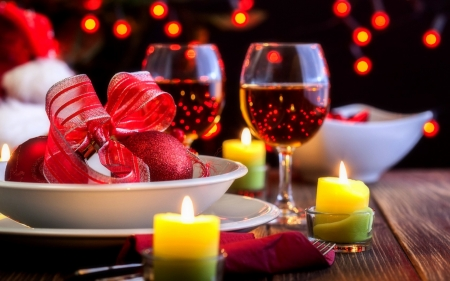 Valentine's Romantic - valentines, romantic, holiday, wine, love four seasons, glasses, hearts, candles, love, beloved valentines
