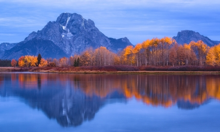 Grand Teton National Park - Autumn, Trees, Lake, Mountains