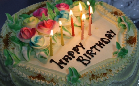 Happy Birthday Cake - Candles, Birthday, Happy, Cake