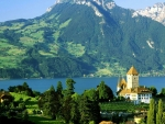 Castle Spiez At The Lake Thun, Switzerland