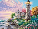 Spring Lighthouse