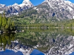 Snowy Mountains Reflecting in the Lake