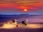 Piano symphony to the sunset