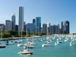 Chicago Marina on Lake Michigan