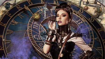 Space and Time Keeper - globe, Steampunk, Entropy, clock, rope, spider