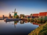 Windmills in Zaanse-Shans, Netherlands