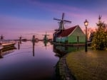 Evening in Zaanse-Shans, Netherlands