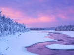 Lapland Winter River,Finland
