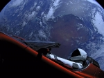 Car Orbiting Earth