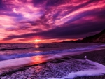 Purple Clouds at Sunset