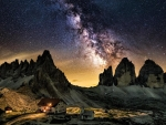 Tre Cime di Lavaredo under the Milky Way