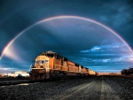 Train Under the Rainbow