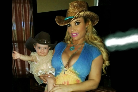 Mom & Daughter Cowgirls . .