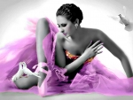 Ballerina and Doves