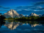 Mount Moran Reflected in Snake River
