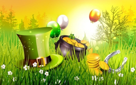 St Patricks Day 3d And Cg Abstract Background
