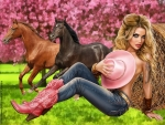 Cowgirl in Pink