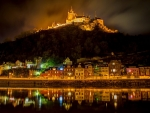 Cochem Castle At Night,Germany